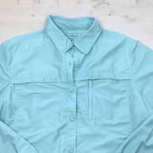 L.L.Bean Tropic Wear button down quick dry top szL